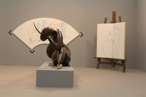 Camille-Henrot-at-Galerie-Kamel-Mennour-(2),-Frieze-London-2015,-photo-Guy-Sangster-Adams