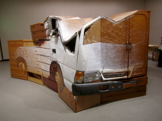 Fumiaki_Aono_Repair_Substitute_Combine_Penetration_Juxtaposition_Restored_Car_Picked_Up_in_HigashiMatsushima_2013