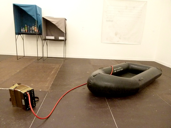 Gabriel Kuri 'Untitled' 2011 Kirsten Pieroth 'Inflated Dinghy' 2009 -  Galleria Franco Noero_564