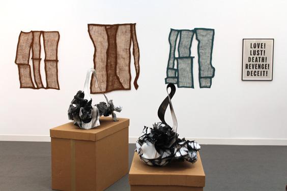 Janice-Kerbel-at-Galerie-Karim-Guenther,-Frieze-London-2015,-photo-Guy-Sangster-Adams