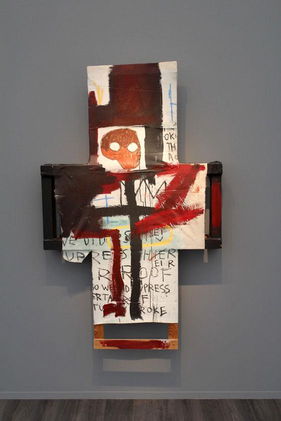 Jean-Michel-Basquiat-at-Van-de-Weghe,-Frieze-Masters-2015,-Frieze-London-2015,-photo-Guy-Sangster-Adams