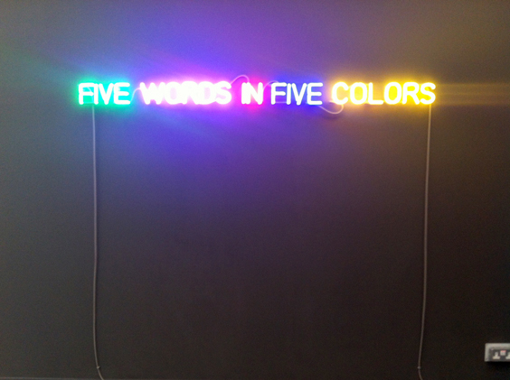 Joseph-Kosuth--Self-defined-5-colors--1965---Sean-Kelly_Masters_web
