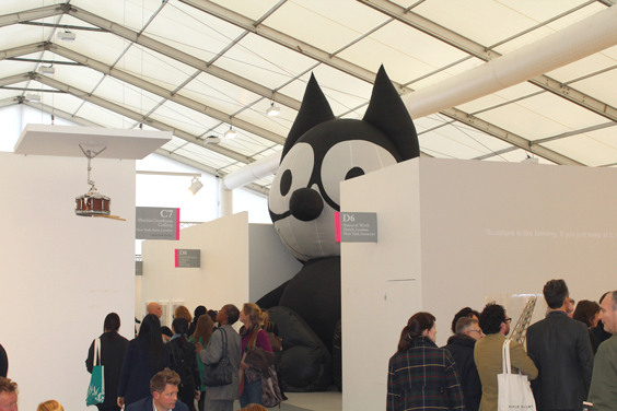 Mark-Leckey-at-Galerie-Bucholz-(1),-Frieze-London-2015,-photo-Guy-Sangster-Adams