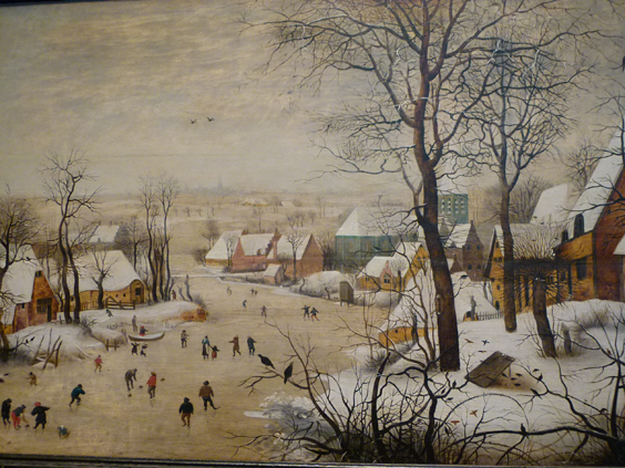 Pieter Brueghel-Winter Landscape with a bird trap-De jonckheere Gallery_564