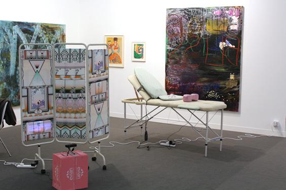 Shana-Moulton,-Lucy-Stein,-Aloise-Corbaz-at-Galerie-Gregor-Staiger-(2),-Frieze-Focus,-Frieze-London-2015,-photo-Guy-Sangster-Adams