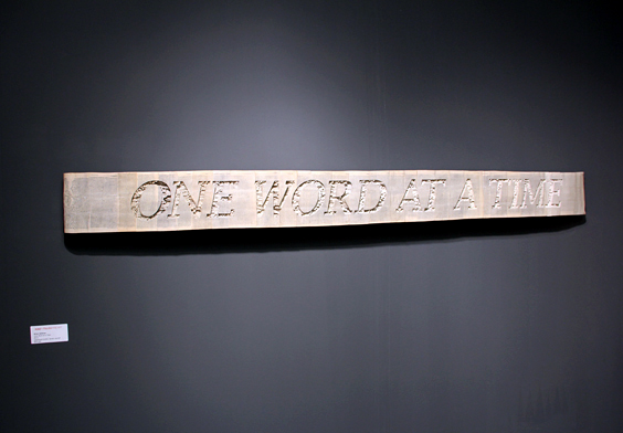 VOLTA_BrianDettmer_One_Word_at_a_Time_2012_Kinz+Tillou_Fine_Art