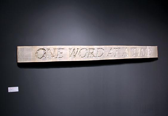 VOLTA_BrianDettmer_One_Word_at_a_Time_2012_Kinz+Tillou_Fine_Art